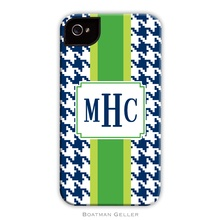 Sleek Cell Phone Case - Alex Houndstooth Navy