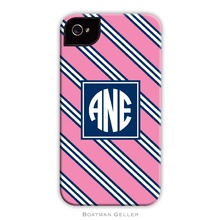 Sleek Cell Phone Case - Repp Tie Pink and Navy