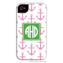 Sleek Cell Phone Case - Anchors Pink