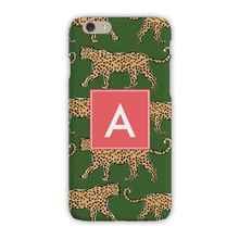 Sleek Cell Phone Case - Leopard Green