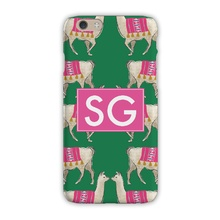 Sleek Cell Phone Case - Llama Green
