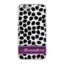 Sleek Cell Phone Case - Organic Dots Black