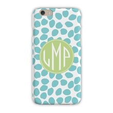Sleek Cell Phone Case - Organic Dots Aqua