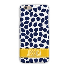Sleek Cell Phone Case - Organic Dots Deep Navy