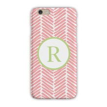Sleek Cell Phone Case - Herringbone Pink