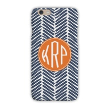 Sleek Cell Phone Case - Herringbone Denim