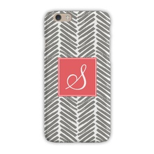 Sleek Cell Phone Case - Herringbone Grey