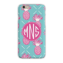 Sleek Cell Phone Case - Pineapples Blue