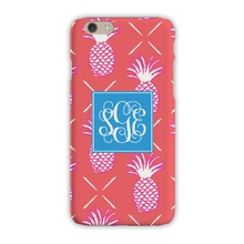 Sleek Cell Phone Case - Pineapples Orange
