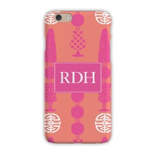 Sleek Cell Phone Case - Topiary Pink