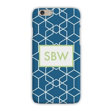 Sleek Cell Phone Case - Geometric Marine