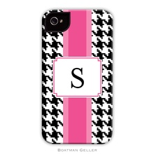 Tough Cell Phone Case - Alex Houndstooth Black