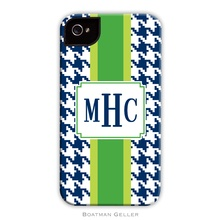 Tough Cell Phone Case - Alex Houndstooth Navy