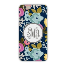 Tough Cell Phone Case - Bloom Navy