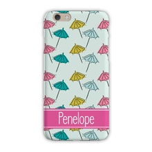 Tough Cell Phone Case - Beach Umbrella Mint