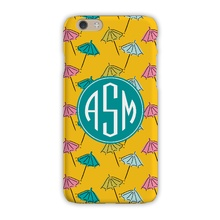 Tough Cell Phone Case - Beach Umbrella Canary
