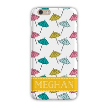 Tough Cell Phone Case - Beach Umbrella White